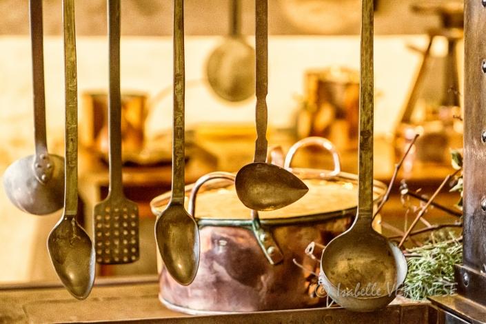 cuisine, cuivre, chateau de chenonceau
