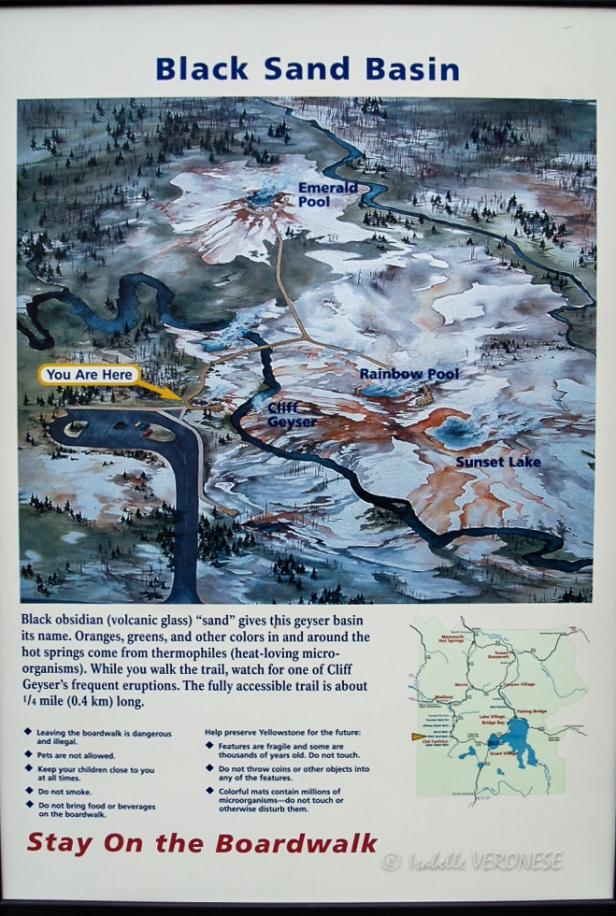 Indication parc de Yellowstone