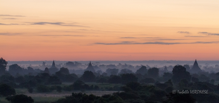 Bagan, Birmanie, sunrise