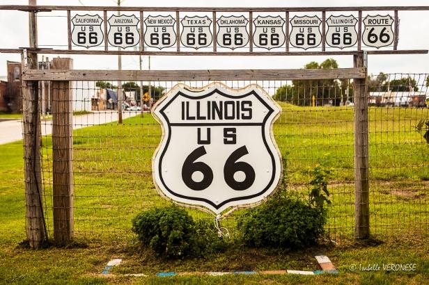 Les états traversés par la route 66 (Gardner - Illinois)